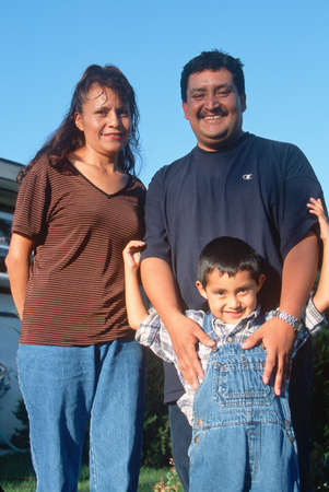A Guatemalan-American family, Ojai, CA Stock Photo - 20801486