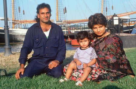 A Pakistani family at a harbor, Alexandria, VA