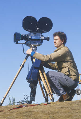 photographies: A cinematographer setting up his camera, Los Angeles, CA