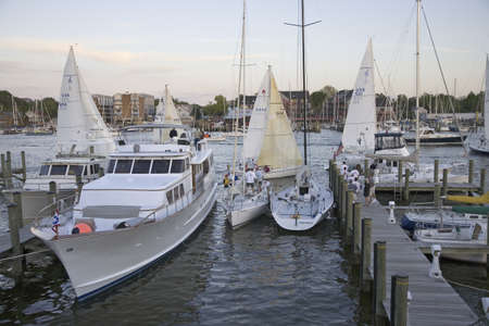 Weekly sailboat race in Annapolis, Maryland