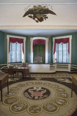 The room where John Adams was sworn in in 1797 as the second President of the United States, Independence Hall, Philadelphia, Pennsylvania