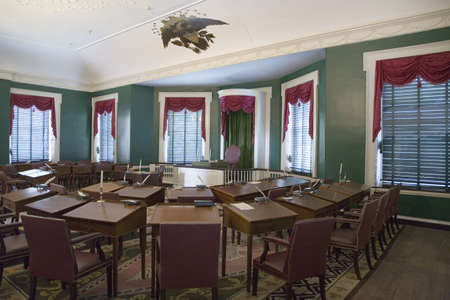 The room where John Adams was sworn in in 1797 as the second President of the United States, Independence Hall, Philadelphia, Pennsylvania Stock Photo - 20802648