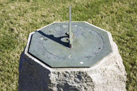 Sun dial at James Fort, near James River, in early Jamestown site, Virginia.