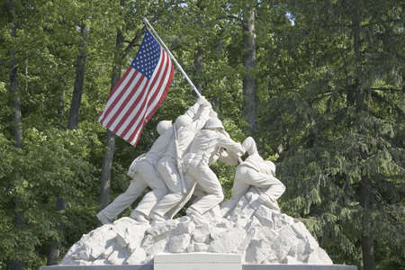 replica: Replica of Iwo Jima statue near National Museum of the Marine Corps at the entrance to the Quantico Marine Corps Base, 18900 Jefferson Davis Highway, Triangle, VA