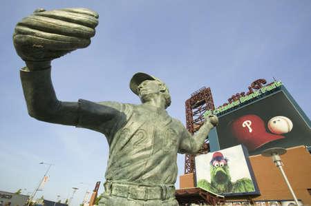Statue of Steve Carlton created by sculptor Zenos Frudakis at Citizens Bank Park, Philadelphia, PA.