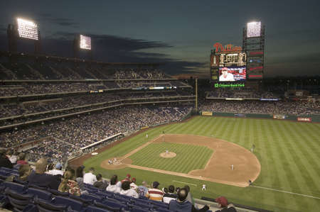 brewers: Panoramic view of 29,183 baseball fans at Citizens Bank Park, Philadelphia, PA, who are watching Philadelphia Phillies beat the Milwaukee Brewers by a score of 8 to 6 on May 14, 2007
