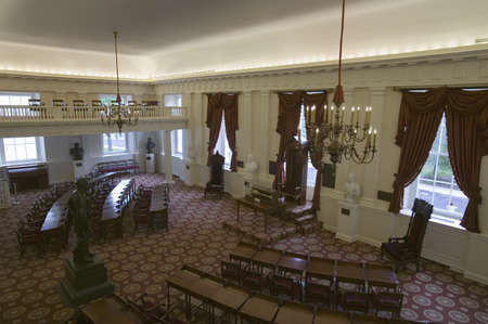 delegates: The Old Hall of the House of Delegates in the Virginia State Capitol, Richmond, Virginia