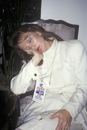 VIP rests after ClintonGore victory, 1992 in Little Rock, Arkansas