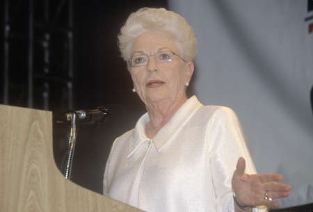 governor: Former Texas Governor Ann Richards addresses crowd at the 2000 Democratic Convention at the Staples Center, Los Angeles, CA  Editorial