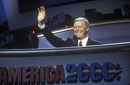 congressman: Congressman Richard Gephardt addresses crowd at the 2000 Democratic Convention at the Staples Center, Los Angeles, CA