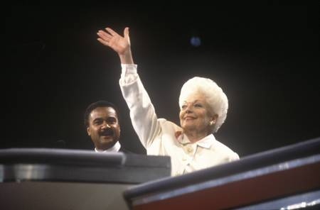 governor: Former Texas Governor Ann Richards addresses crowd at the 1992 Democratic National Convention at Madison Square Garden, New York