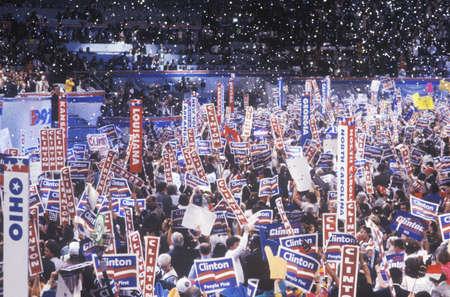 delegates: Celebrazione presidenziale alla Convention nazionale democratica 1992 al Madison Square Garden