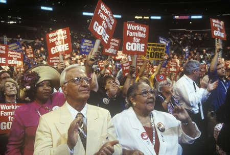 delegates: Tennessee delegati alla Convention democratica 2000 allo Staples Center, Los Angeles, CA