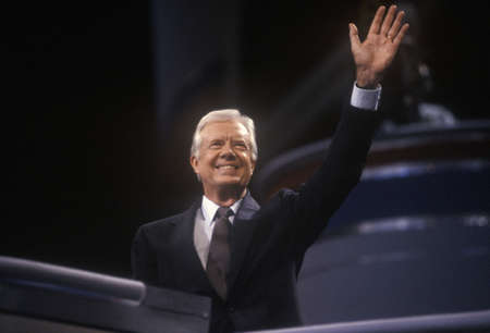 madison: Former President Jimmy Carter at the 1992 Democratic National Convention at Madison Square Garden, New York Editorial
