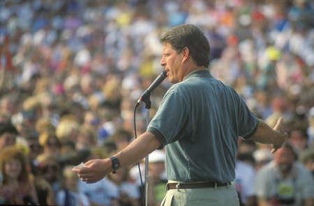 Senator Al Gore on the Clinton/Gore 1992 Buscapade campaign tour in Youngstown, Ohio