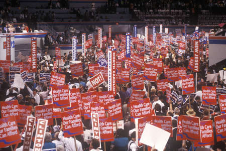 advocates: Family Healthcare advocates at the 1992 Democratic National Convention at Madison Square Garden, New York
