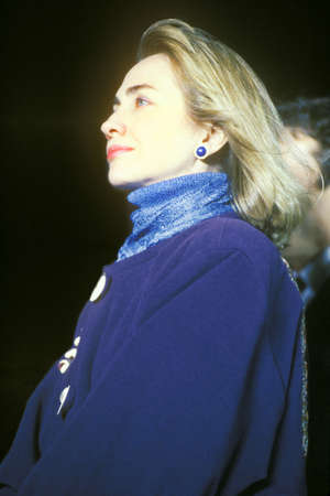 campaigning: Hillary Rodham Clinton at a Kentucky campaign rally in 1992 on ClintonGores final day of campaigning in Paducah, Kentucky