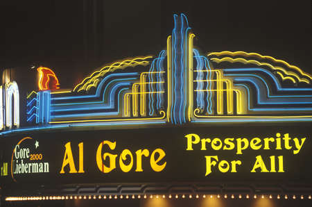Presidential rally for Gore/Lieberman on October 31st of 2000 in Westwood Village, Los Angeles, California
