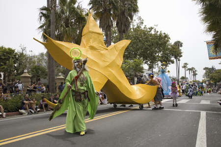 solstice: Annual Summer Solstice Celebration and Parade June 2007, since 1974, Santa Barbara, California Editorial
