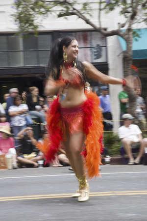 Dancer at annual Summer Solstice Celebration and Parade June 2007, since 1974, Santa Barbara, California