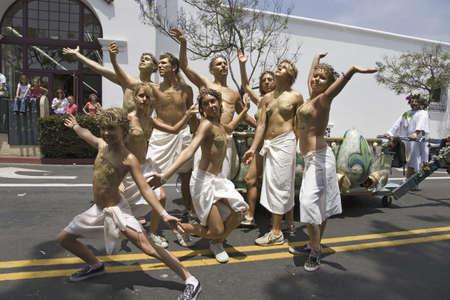 Posers at annual Summer Solstice Celebration and Parade June 2007, since 1974, Santa Barbara, California