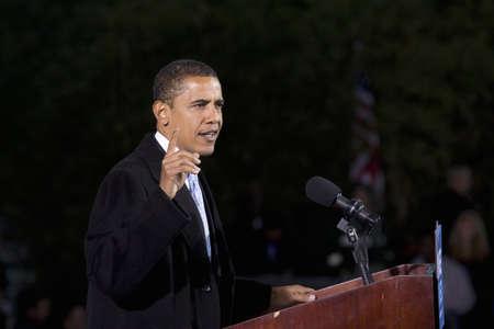 obama: US Senator Barack Obama at Change We Need Presidential rally October 30, 2008, at Verizon Wireless Virginia Beach Amphitheater in Virginia Beach, VA
