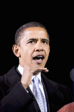 obama: US Senator Barack Obama speaking at Change We Need Presidential rally, October 30, 2008 at Verizon Wireless Virginia Beach Amphitheater in Virginia Beach, VA