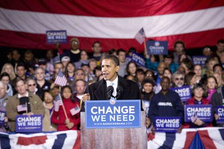 senator: US Senator Barack Obama speaking at Change We Need Presidential rally, October 30, 2008 at Verizon Wireless Virginia Beach Amphitheater in Virginia Beach, VA
