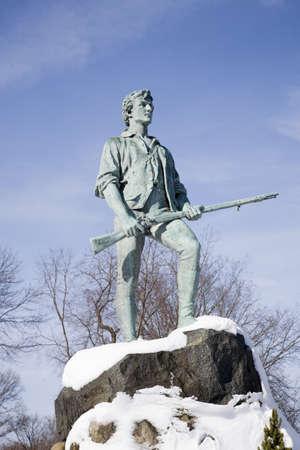 revolutionary war: Revolutionary War, Lexington Minuteman Statue, Lexington, Ma., New England, USA,