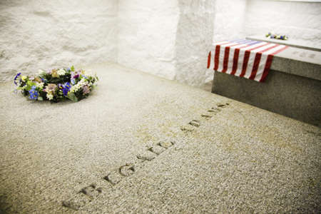 adams: Burial vault and tomb of John Quincy Adams, 6th President and his wife Louisa Catherine, and John Adams the 2nd President and his wife Abigail Adams, Unitarian Universalist church (The Presidents Church), Quincy, MA., USA Editorial