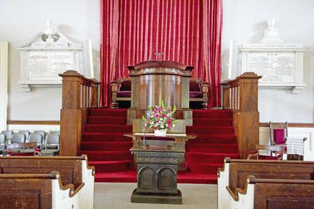 adams: Church that John and Abigail Adams attended with their son, John Quincy Adams, Unitarian Universalist church (The Presidents Church), Quincy, MA., USA Editorial