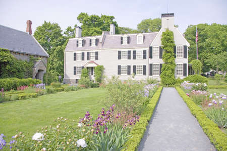 Peacefield - the home of John and Abigail Adams, Adams National Historical Park, Braintree, Quincy, Ma., USA Editorial