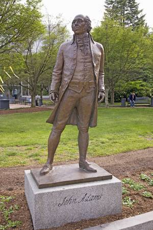 Statue of John Adams, the 2nd President and Revolutionary War hero, Quincy, Ma.