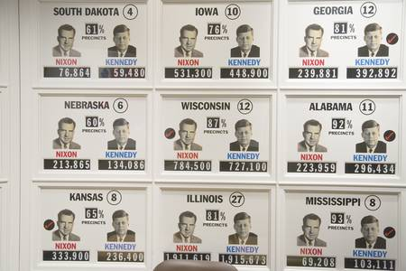 representations: Boston, MA., USA, 1960- Presidential election state votes at  John F. Kennedy Presidential Library and Museum.