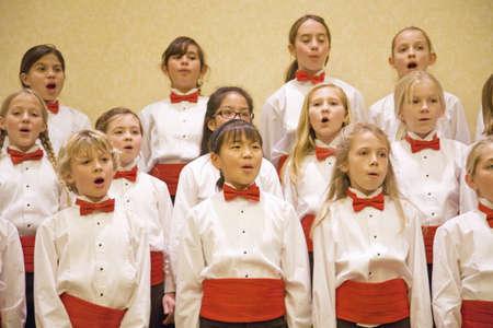 christmas carols: Children choir sing for Christmas in Santa Barbara, CA