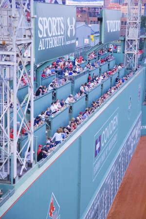 Green Monster leftfield wall at Historic Fenway Park, Boston Red Sox, Boston, Ma., USA, May 20, 2010, Red Sox versus Minnesota Twins, attendance, 38,144, Red Sox win 6 to 2
