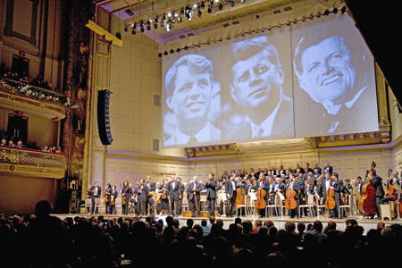 ted: Tribute Concert to President John F. Kennedy, Senator Robert F. Kennedy and Senator Ted Kennedy, as Keith Lockhart conducts the Boston Pops perform at Symphony Concert Hall, Boston, Ma., USA