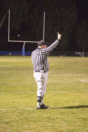 High school football referee, Ojai Nordhoff Rangers Football team defeat Verbum Dei Eagles 21-0 on November 19, 2010, Ojai, CA, USA Stok Fotoğraf - 23155898
