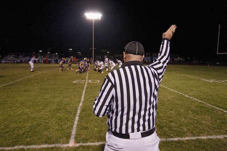 High school football referee as Ojai Nordhoff Rangers Football team defeats Verbum Dei Eagles 21-0 on November 19, 2010, Ojai, CA, USA
