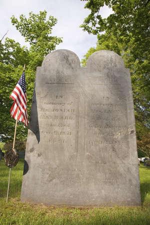 revolutionary war: Revolutionary War graves in old cemetery near Concord, MA