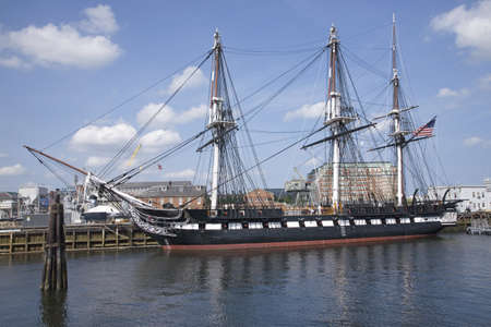 Old Ironsides, the historic USS Constitution, Charlestown, Boston, MA