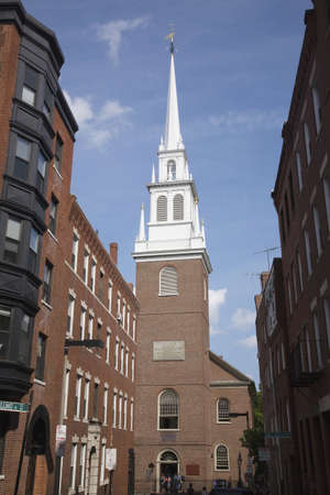 revere: The Old North Church is officially known as Christ Church in the City of Boston, on April 18, 1775, was the site of two lanters that warned Paul Revere the British were coming Editorial
