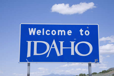 idaho state: Welcome to Idaho state sign Stock Photo