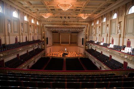 Symphony Hall, Boston Mass, home of Boston Symphony Orchestra and Boston Pops. Editorial