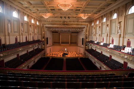 Symphony Hall, Boston Mass, home of Boston Symphony Orchestra and Boston Pops. Redactioneel