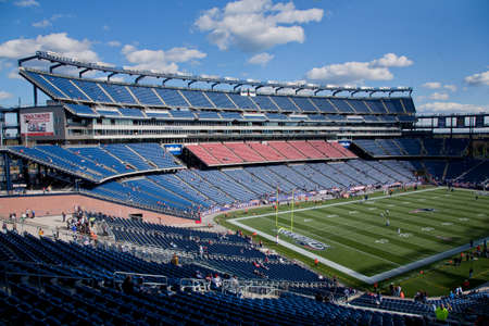 nfl: Gillette Stadium, home of NFL Super Bowl champs, New England Patriots