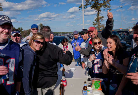 BOSTON - OCTOBER 16: Tailgate party before New England Patriots play Dallas Cowboys at Gillette Stadium on October 16, 2011 in Foxborough, Boston, MA