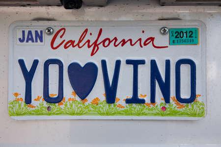 Vanity nummerplaat - California
