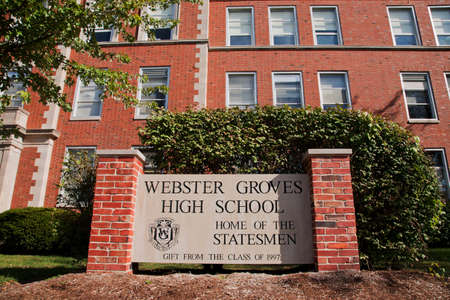 educational institution: Webster Groves High School in Missouri United States  Editorial