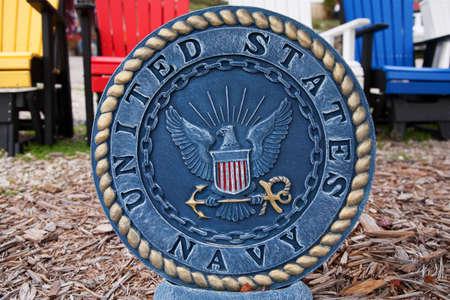 representations: Engraved United States Navy emblem  Editorial